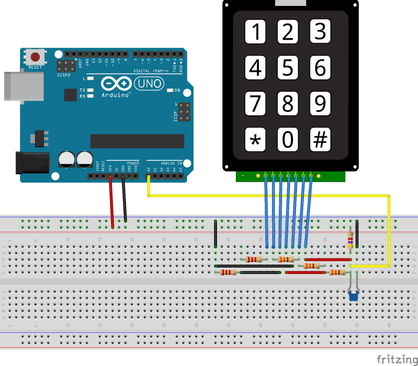 arduino keypad with 1 analog pin ziggy 39 s of the world. Black Bedroom Furniture Sets. Home Design Ideas