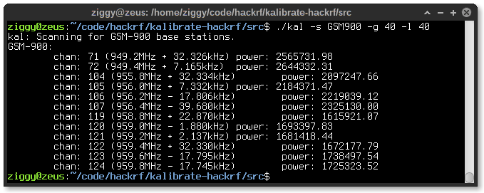 Sniffing GSM traffic with HackRF  – Ziggy's of the world